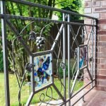 decorative wrought-iron fence for a country house