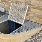 Fiberglass Grate powder coated trap door