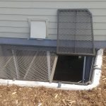 Large grate with trap door