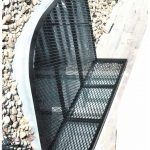 Window grate with back