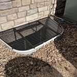 trap door metal well
