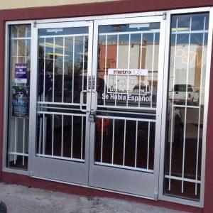 Commercial door inside mount