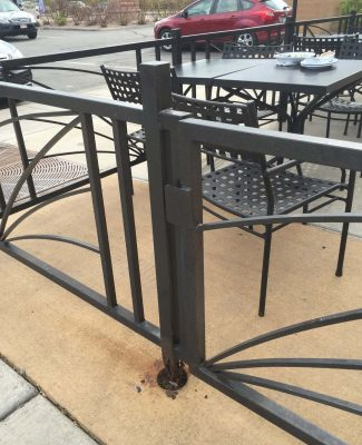 Commercial seating rail