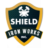Shield Iron Yellow Logo with white color
